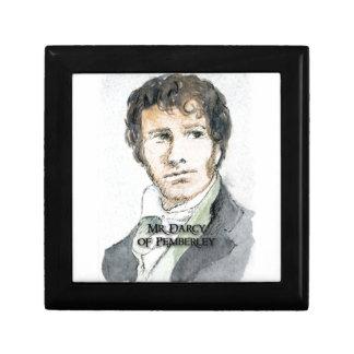 Herr Darcy von Pemberley Kleine Quadratische Schatulle