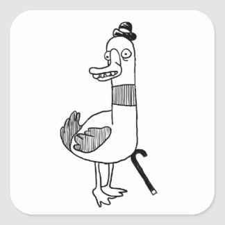 Herr duck Quadrat-Aufkleber