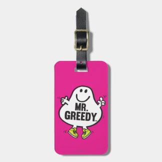 Herr Greedy Gepäckanhänger