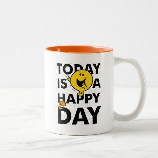 Herr Happy | ist heute ein glücklicher Tag Zweifarbige Tasse
