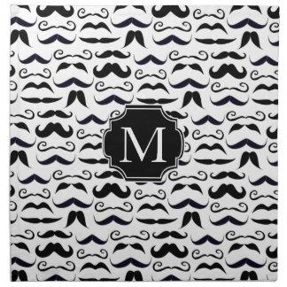 Herr Hipster Mustache Vintage Retro Stoffserviette