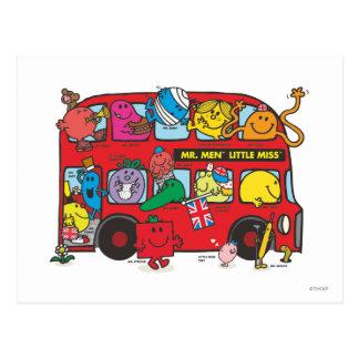 Herr Men u. kleines Fräulein Crowded Bus Postkarte