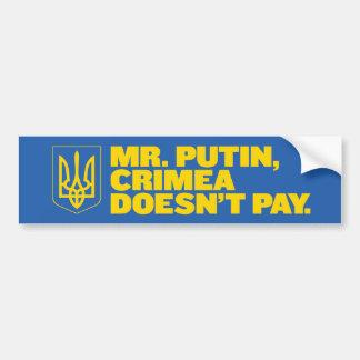 Herr Putin, Krim zahlt nicht Autoaufkleber