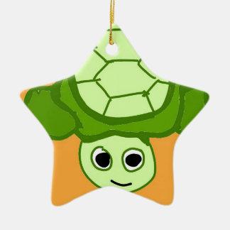 Herr Schildkröte, weil ich Schildkröten mag Keramik Stern-Ornament