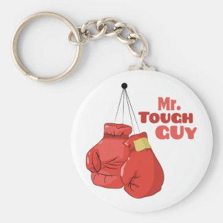 Herr Tough Guy Standard Runder Schlüsselanhänger