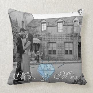 Herr u. Frau Pillow mit Foto-Hintergrund Kissen