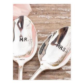 Herr. Und Feierentwurf Frau Wedding Postkarte