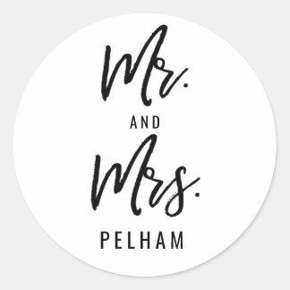 Herr und Frau Custom Stickers Invitations Wedding