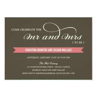 Herr und Frau Polterabend-/Rehearsal-Abendessen 12,7 X 17,8 Cm Einladungskarte