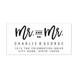 Herr-und Hochzeits-Gummi-Briefmarke Herr-Bow Tie Gummistempel