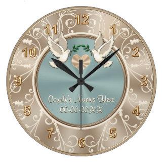 Herrliche PERSONALISIERTE Hochzeits-Uhr mit IHREM Große Wanduhr