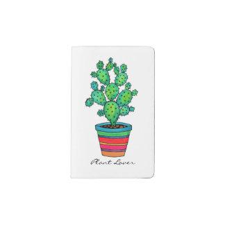 Herrlicher Aquarell-Kaktus im schönen Topf Moleskine Taschennotizbuch