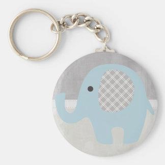 Herrlicher Baby-Elefant im Blau Schlüsselanhänger