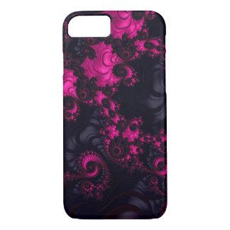 Herrlicher rosa schwarzer Fraktal iPhone 7 Kasten iPhone 7 Hülle