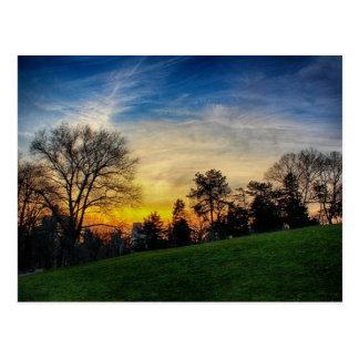 Herrlicher Sonnenuntergang im Central Park, NYC Postkarte