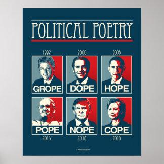 Herumtasten-Schmieren-Hoffnungs-Papst Nope Cope Poster
