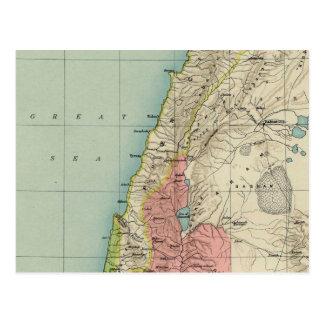 Hervorragende Vintage Karte von Israel