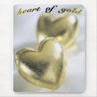 Herz aus Gold Mousepads