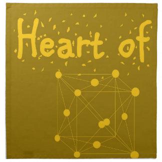 Herz aus Gold Serviette