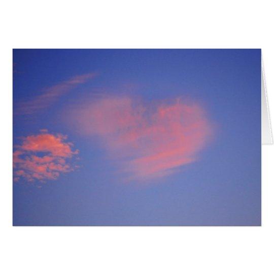 Herz aus Wolken - Grußkarte