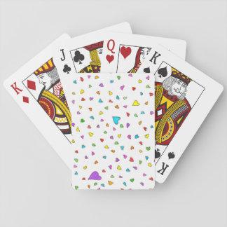 Herz besprüht Spielkarten