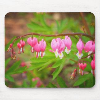Herz-Blumen mit den Herz-Blumenblättern Mousepads