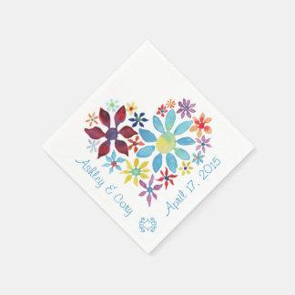Herz der Blumen Papierservietten