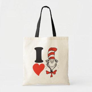 Herz Dr.-Seuss Valentine | I die Katze im Hut Tragetasche