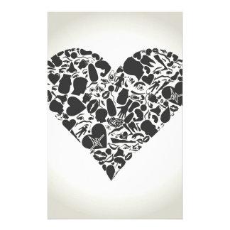 Herz eines Teils eines Körpers Büropapiere