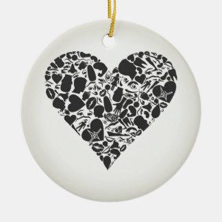 Herz eines Teils eines Körpers Keramik Ornament