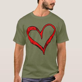 Herz-Entwurfs-T - Shirt