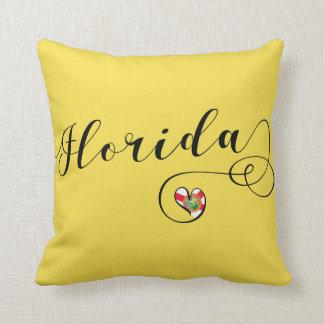 Herz-Florida-Kissen, Miami Florida Kissen