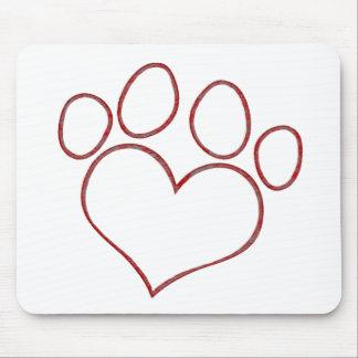 Herz geformtes mauspads