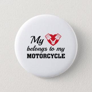 Herz gehört Motorrad Runder Button 5,1 Cm