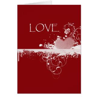 Herz-Geschenke LIEBE Valentines rote weiße Tages Karte