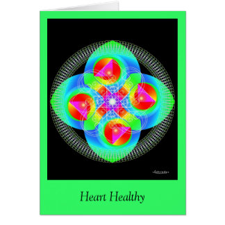 Herz gesund karte