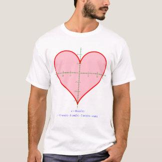 Herz-Gleichungs-Shirt der Männer T-Shirt