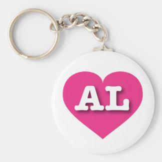Herz heißen Rosas Alabamas - große Liebe Standard Runder Schlüsselanhänger