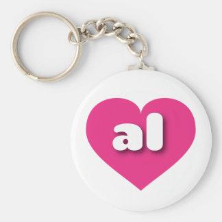 Herz heißen Rosas Alabamas - MiniLiebe Standard Runder Schlüsselanhänger