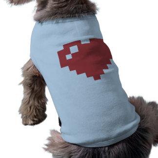 Herz-Hündchen-gewelltes Trägershirt Ärmelfreies Hunde-Shirt