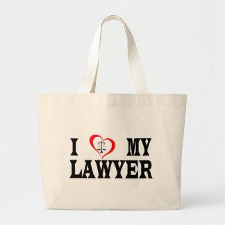 Herz I mein Rechtsanwalt Jumbo Stoffbeutel