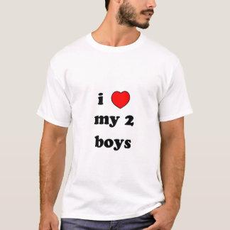 Herz I meine 2 Jungen T-Shirt
