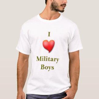 Herz I Militär-Jungen T-Shirt