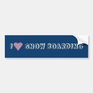 Herz I Snowboarding Autoaufkleber