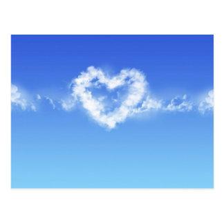 Herz im Himmel Postkarte