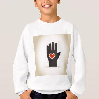 Herz in einer Hand Sweatshirt