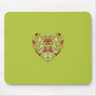 Herz-In-Herz-Auf-Säure-Apple-Grün-Muster Mauspads