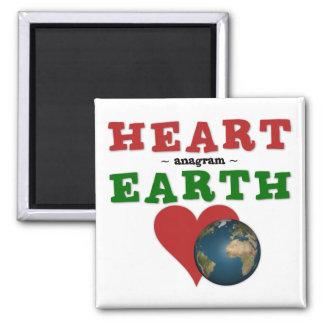 Herz ist Anagramm für Erde Quadratischer Magnet
