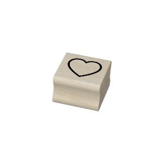 Herz-Kontur-Gummi-Briefmarke Gummistempel