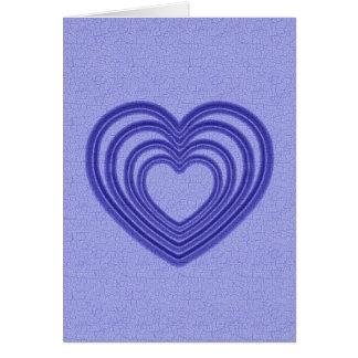 Herz-Kräuselung - Blau Grußkarte
